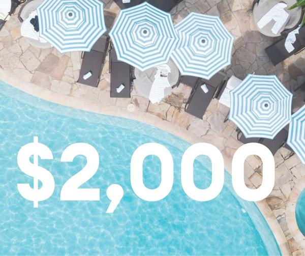 $2,000 Resort Credit