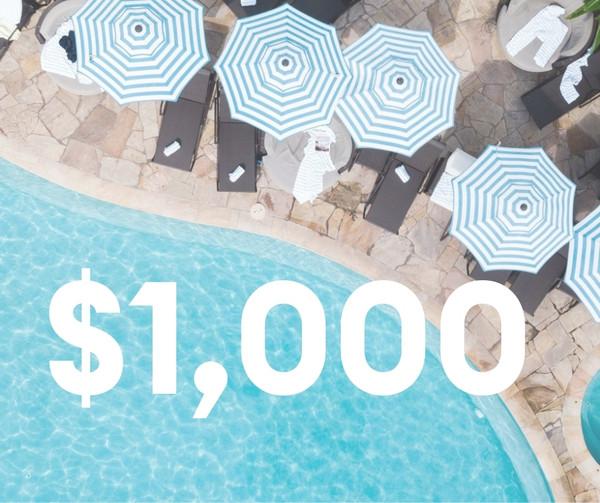 $1,000 Resort Credit