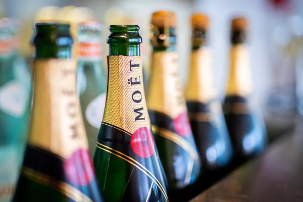 Cascading Moët & Chandon Champagne