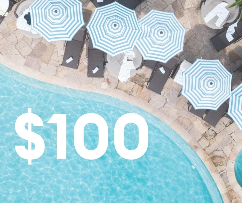 $100 Resort Credit