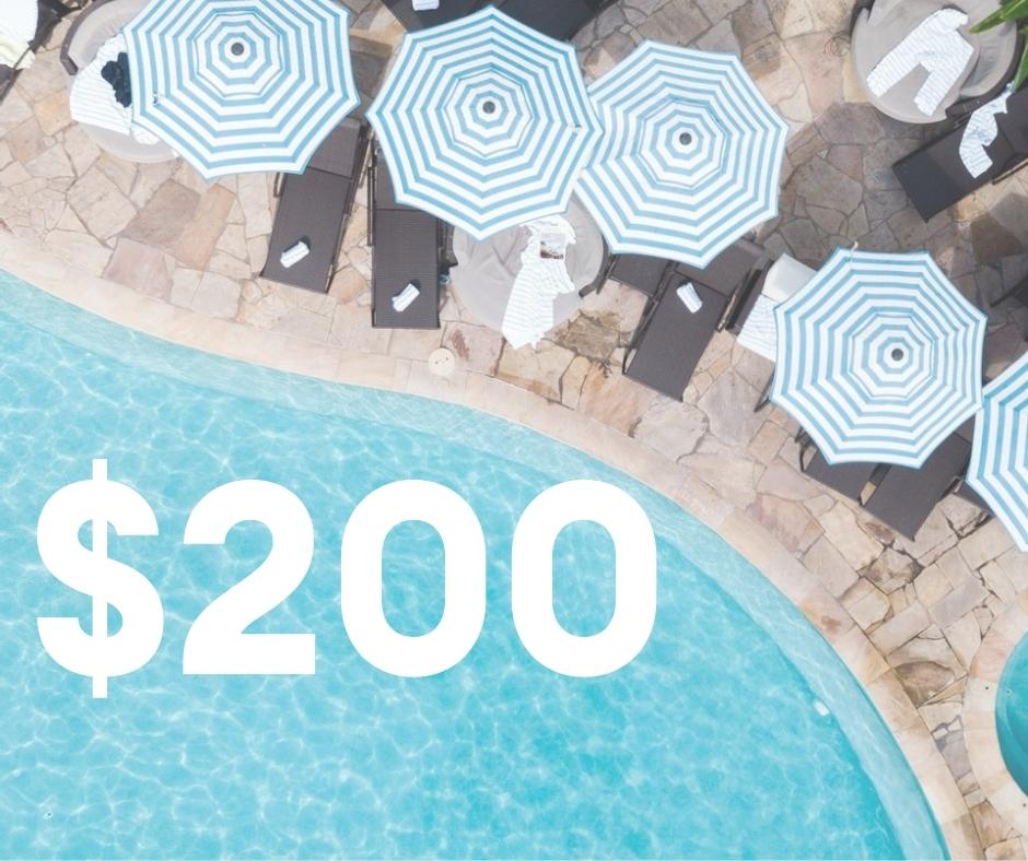 $200 Resort Credit