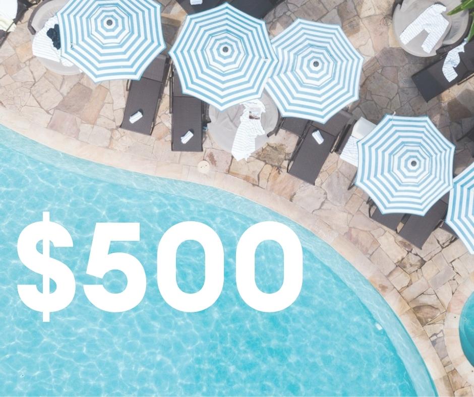 $500 Resort Credit
