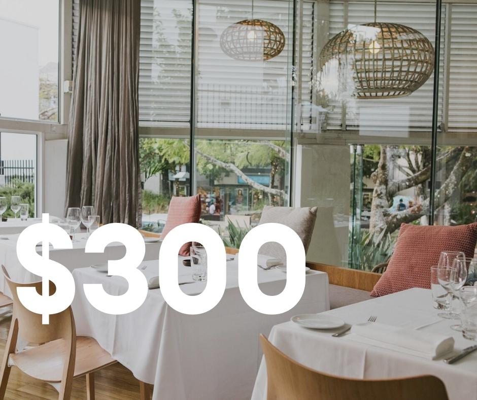 $300 Restaurant Credit