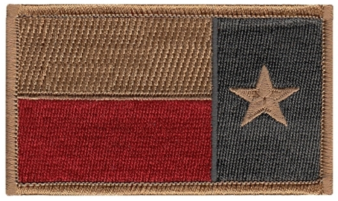 reverse texas flag patch subdued color military depot reverse texas flag patch subdued color