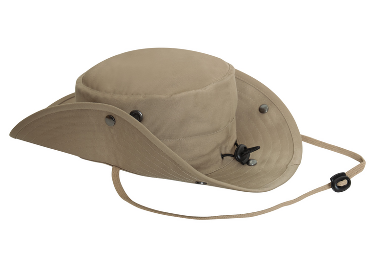 Adjustable Boonie Hat With Neck Cover and Snap Buttons