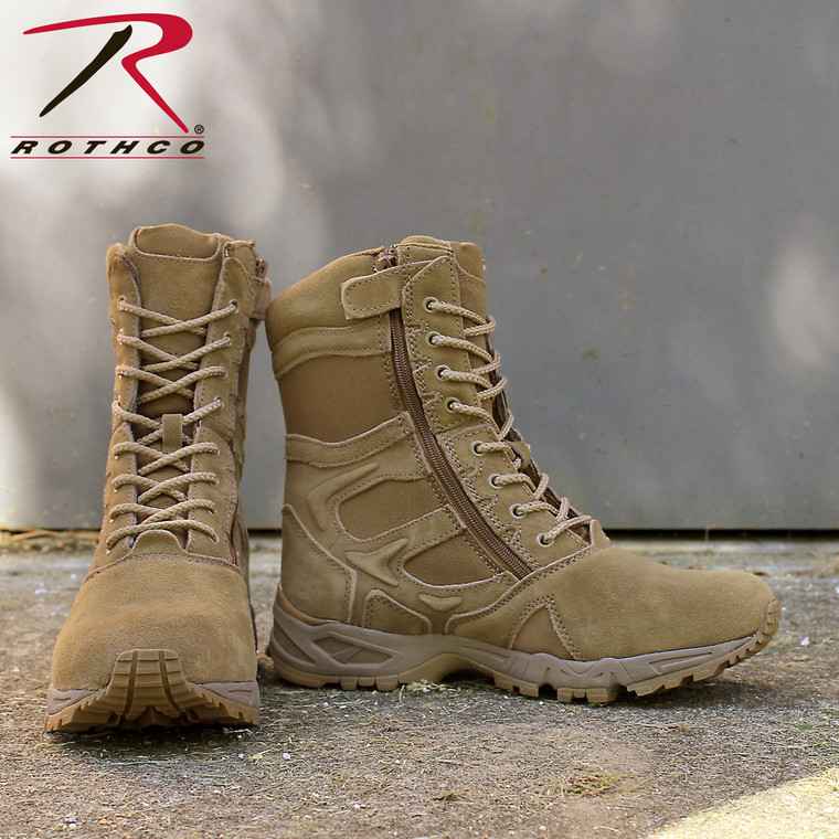 """Forced Entry 8"""" Deployment Boots With Side Zipper - Coyote"""