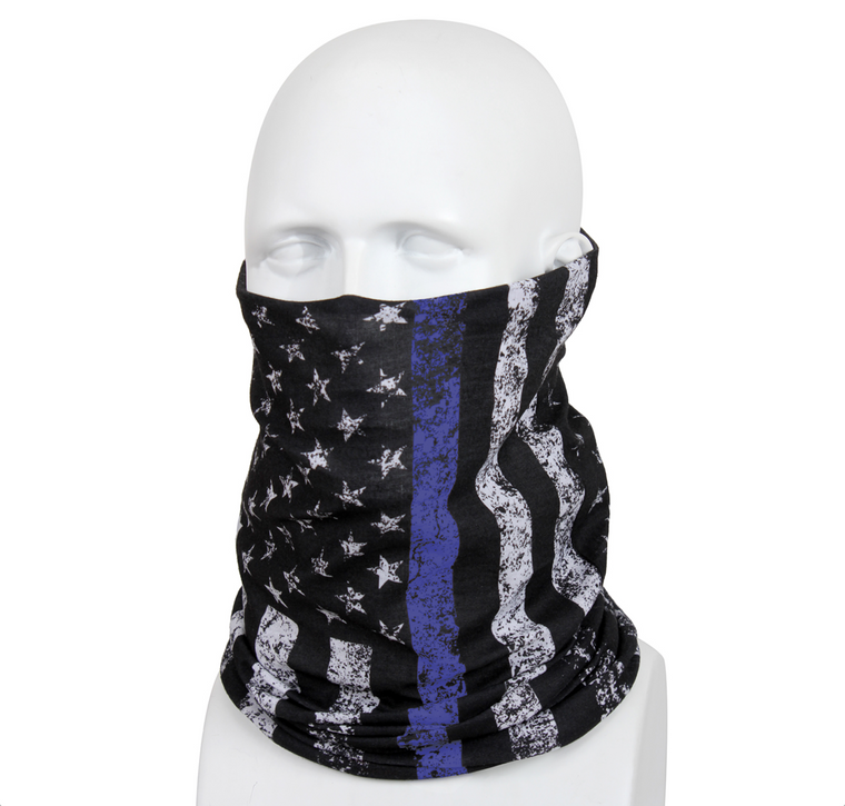 Thin Blue Line Multi-Use Light Weight Neck Gaiter and Tactical Wrap