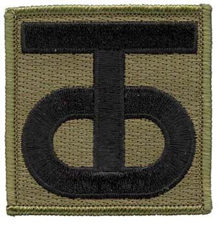 90th Sustainment Brigade OD Green Patch