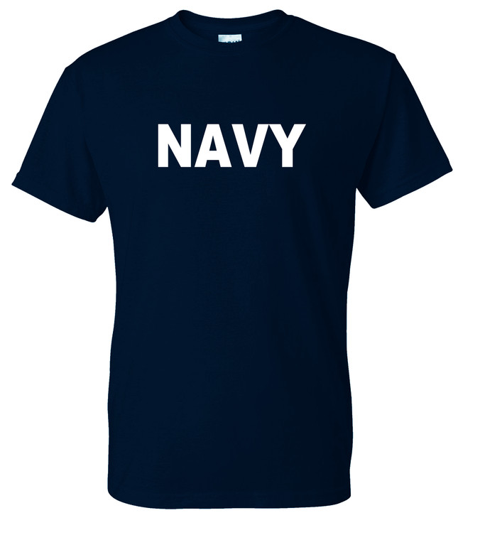 Navy T-Shirt - Navy/White