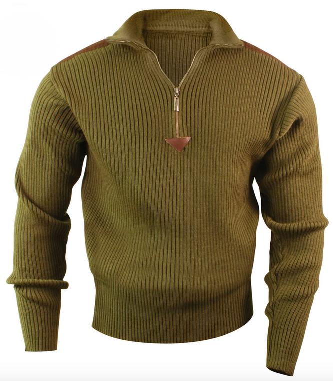 Quarter Zip Acrylic Commando Sweater