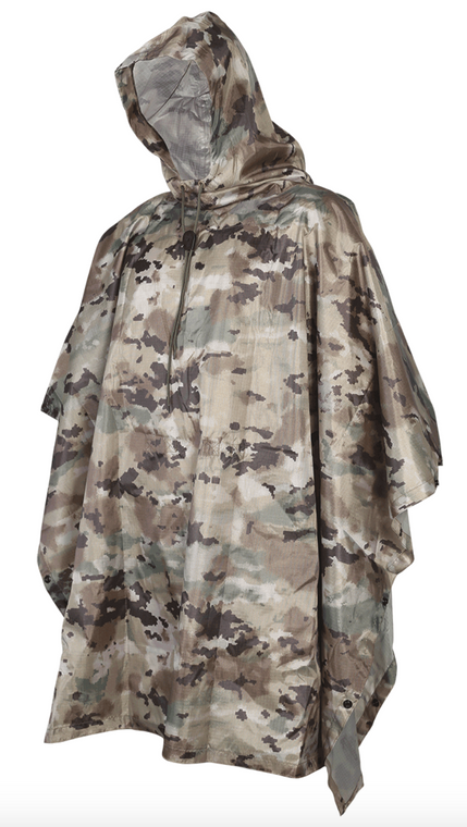 MILITARY STYLE PONCHO