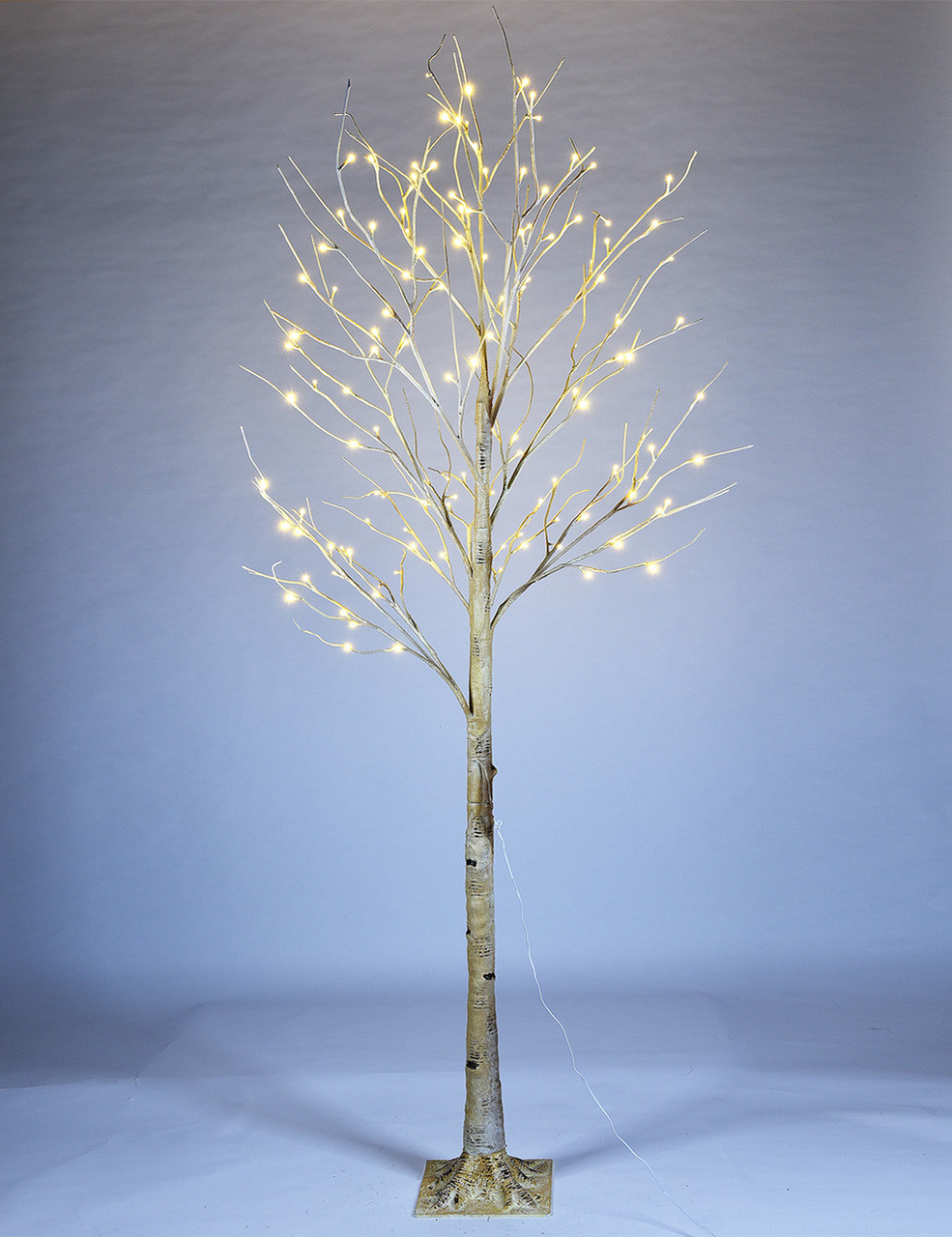 Christmas Tree White Lights.Lightshare 8 Ft Pre Lit Birch Tree With 132 Warm White Lights