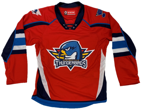 NEW - Youth Red Quicklite Jersey (Blues Patch)