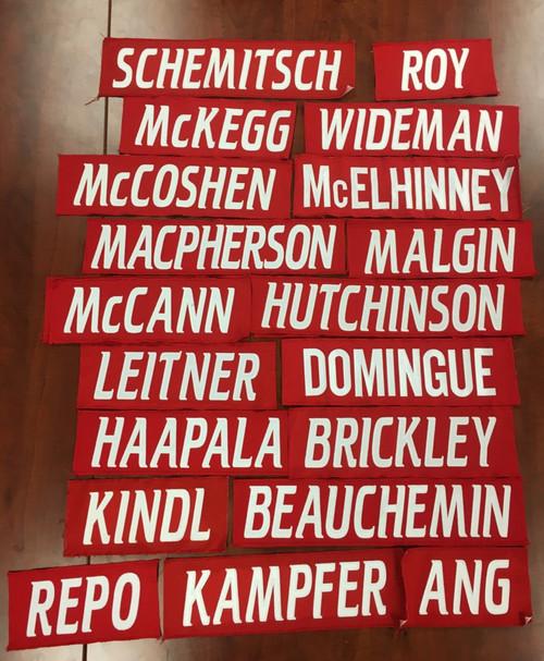 Jersey Name Bar - Red