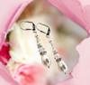 White Pearl Wedding Earrings - Teardrop Dangle Earrings - Jewelry Gift Box for Women