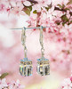 Crystal Cube Earrings for Women with Jewelry Gift Box for Wedding – Brides – Mother of the Bride