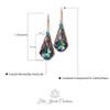 Crystal Teardrop Earrings adorned with Crystal from Swarovski