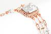 Vintage Inspired Rectangle Crystal Pendant Rhinestone Necklace