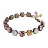 Pretty Pink Crystal Bracelet Jewelry for Women Gift for Birthday Wedding Anniversary