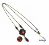 Romantic Red Crystal Filigree Pendant Necklace with Crystals from Swarovski