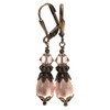 Simulated Pearl Earrings with Crystal from Swarovski