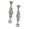 Bridal Simulated Pearl and Rhinestone Earrings with Crystal from Swarovski
