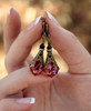 Chili Pepper Baroque Crystal Vintage Filigree Earrings Jewelry for Women
