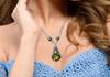 Crystal Pendant Necklace, Crystal Necklace, Filigree Necklace, Filigree Pendant, Filigree Jewelry, Crystals from Swarovski, Prom Necklace