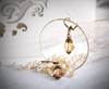 Vintage Golden Shadow Baroque Crystal Earrings with Crystal from Swarovski