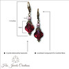 Romantic Ruby Red Baroque Crystal Earrings with Crystal from Swarovski