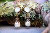 Vintage Dangle Earrings for Women Opalescence Crystal and Pearl Jewelry Gift Box for Women