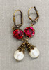 Sparkly Red Vintage Earrings for Women - July Birthstone with Jewelry Gift Box
