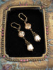 Golden Shadow & Baroque Pearl November Birthstone Earrings with Crystal from Swarovski with Jewelry Gift Box