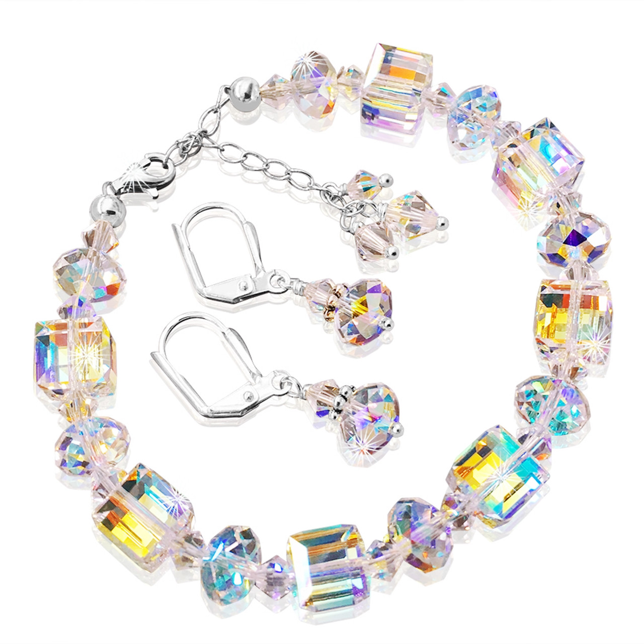 2c747596039 Crystal Bracelet and Earring Set with Crystals from Swarovski ...