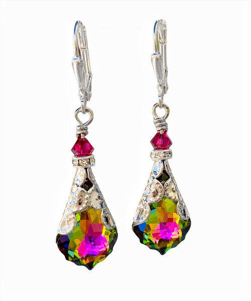 Antique Style Earrings Dangle Multicolor Jewelry for Women Gift Box