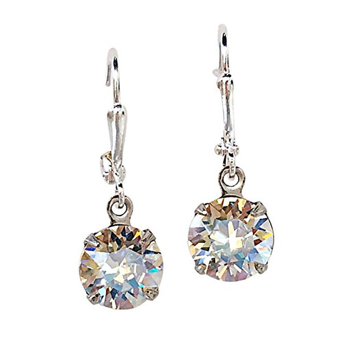 Crystal Moonlight Dangle Earrings Bridal Jewelry for Women Gift for Her