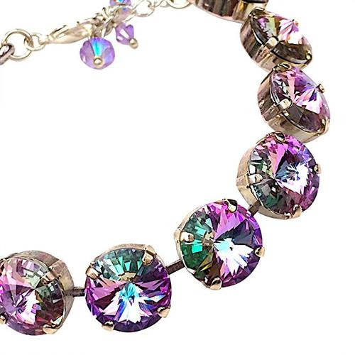 Vitrail Light Round Stone Rivoli Bracelet made with Crystal from Swarovski