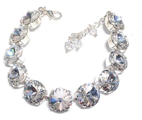 Bridal Clear Rivoli Bracelet with Crystal from Swarovski