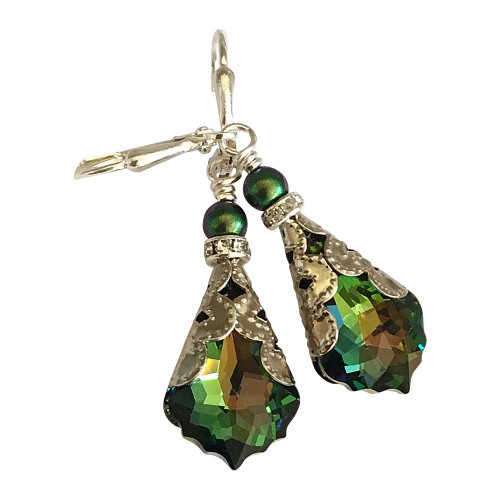 Vintage Inspired Crystal Earrings - Unique Jewelry Gift Box for Women