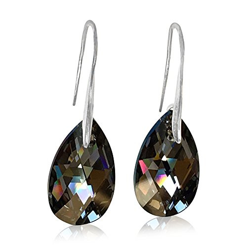 Swarovski Black Crystal Earrings adorned with Crystals by Swarovski
