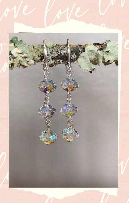 Crystal Dangling Earrings for Long Hair Jewelry for Women Gift Box