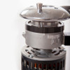 REGULATION STEPPED SYSTEMIdeal for those that require a grind regulation system of fixed point grinding. The brake control is inserted into holes that prevent the regulator from moving when cleaning or handling the grinder
