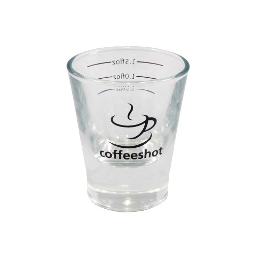 2oz Espresso Shot Glass ‰by Coffeeshot. A solid based Shot Glass with measurement lines.