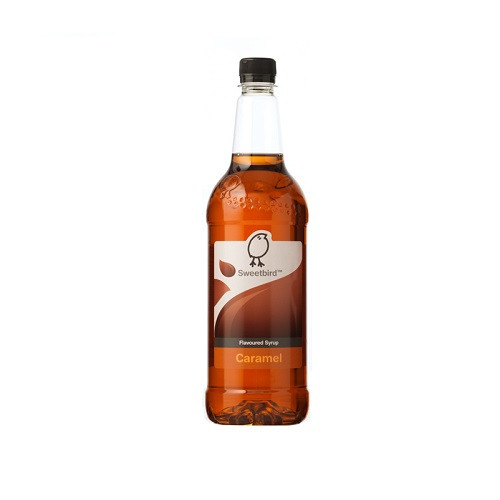 Sweetbird Caramel Syrup 1 Litre - Great with Lattes, Macchiattos and Frappes!