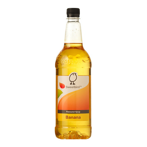 Sweetbird Banana Syrup 1 Litre - Ideal for a classic milkshake!