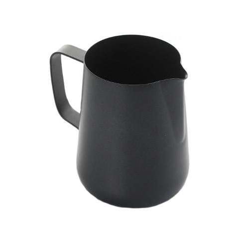 Teflon Coated Milk Frothing Jug - Black 1 Litre