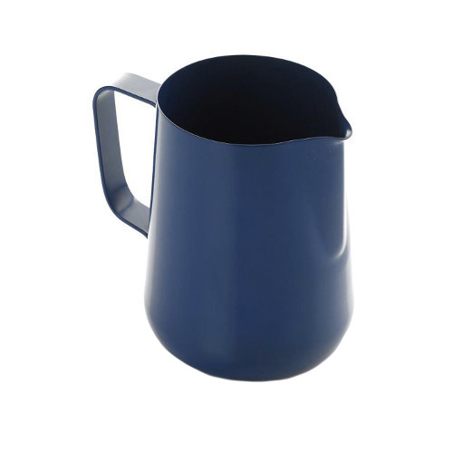Teflon Coated Milk Frothing Jug - Blue 1 Litre