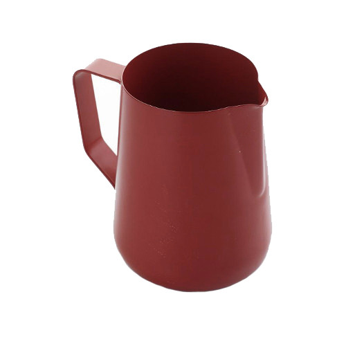 Teflon Coated Milk Frothing Jug - Red 0.6 Litre