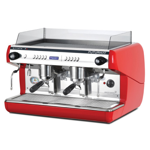 Superior Quality 2 Group Head Commercial Coffee Machine with digitally controlled functions. Quarter turn steam taps for ease of use.