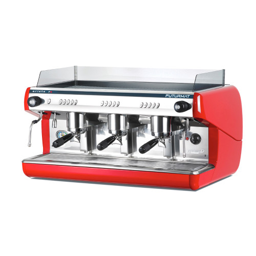 Superior Quality 3 Group Head Coffee Machine with digitally controlled functions.  Quarter turn steam knobs for ease of use.